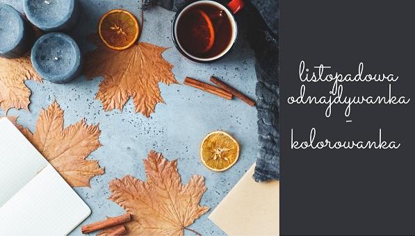 listopadowa odnajdywanka – kolorowanka